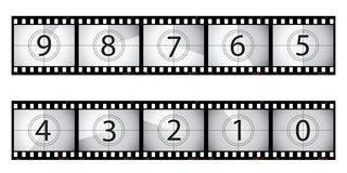 Film countdown. Film strip countdown.  Please check my portfolio for more film illustrations Stock Image