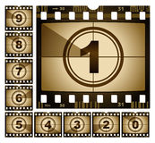 Film countdown. Illustration of retro film countdown Stock Photos
