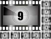 Film countdown. Vector illustration of a film countdown stock illustration