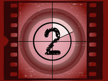 Film Countdown - At 2. Old Red Scratched Film Countdown at No 2 Royalty Free Stock Image