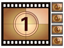 Film countdown 2. Film countdown isolated on a white background. Vector illustration Stock Photography