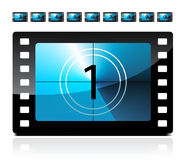 Film countdown. From 1 to 9 set Royalty Free Stock Image