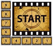 Film Countdown. A film countdown set for use in movie beginnings Royalty Free Stock Photo