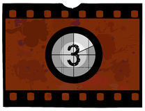 Film countdown at 3 Stock Photos