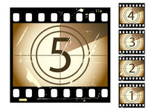 Film countdown. With grunge effect from a series in my portfolio Royalty Free Stock Images