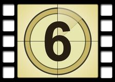 Film Countdown. Like in the movies Royalty Free Stock Photography