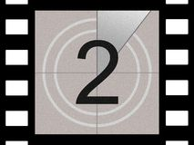 Film countdown. Just like in the movies Royalty Free Stock Image
