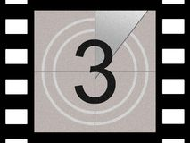 Film countdown. Just like in the movies Royalty Free Stock Photography