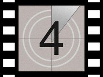 Film countdown. Just like in the movies Royalty Free Stock Photos