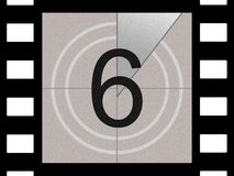 Film countdown. Just like in the movies Stock Photo