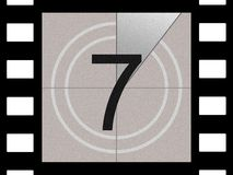 Film countdown. Just like in the movies Stock Image
