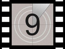 Film countdown. Just like in the movies Stock Images