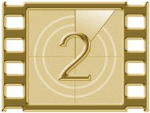 Film countdown Royalty Free Stock Photos