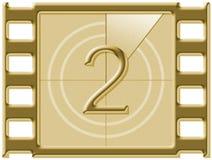 Film countdown Royalty Free Stock Photos