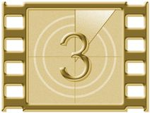Film countdown. Just like in the movies royalty free illustration