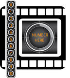 Film countdown. Pattern (vector set Royalty Free Stock Image
