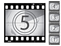 Film countdown Stock Photo