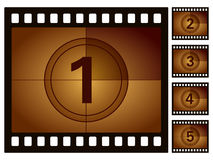 Film countdown. Isolated on a white background. Vector illustration Stock Photos