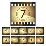 Film countdown. Vector illustration of a film countdown Royalty Free Stock Photo