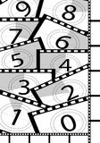 Film countdown backgrounds Royalty Free Stock Photo