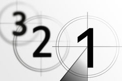 Film countdown 3 2 1 Royalty Free Stock Images