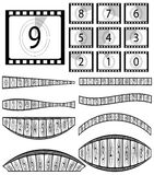 Film countdown illustration Royalty Free Stock Photos