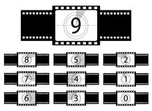Film countdown illustration Stock Photo