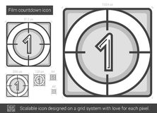 Film countdown line icon. Royalty Free Stock Image