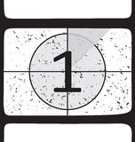 Film countdown at number 1 royalty free illustration