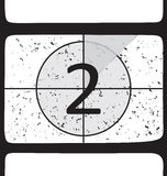 Film countdown at number 2. Vector illustration Royalty Free Stock Image