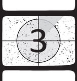 Film countdown at number 3 Royalty Free Stock Photo