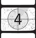 Film countdown at number 4. Vector illustration Royalty Free Stock Images