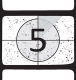 Film countdown at number 5. Vector illustration Stock Images
