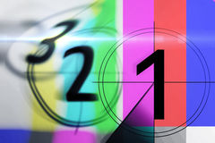 Film countdown 3 2 1 Royalty Free Stock Image