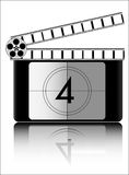 Film countdown vector. Isolated over white background and groups, vector illustration Stock Photos