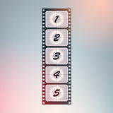 Film countdown. Vector. Royalty Free Stock Photo