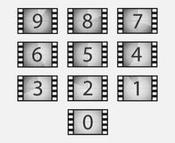 Film countdown vector set Stock Photo