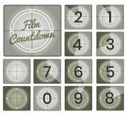 Film countdown vintage frames vector illustration