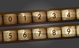 Film counter. Retro film counter all digits Stock Photography
