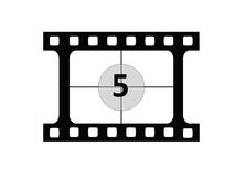 Film Coutdown. A  representing a film countdown Stock Images