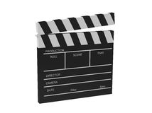 Film cracker. Black film cracker with white letters on a white background Stock Images