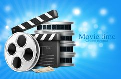 Film and cracker cinema production  illustration Stock Photos