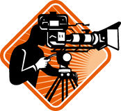 Film Crew Cameraman Shooting Filming Camera Royalty Free Stock Photos