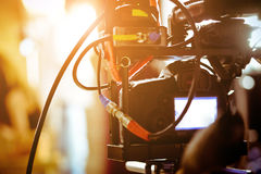 Film Crew. Filming with professional camer, Film Crew royalty free stock image