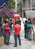 Film Crew Filming TV Show in China Royalty Free Stock Images