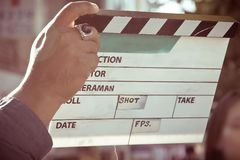 Film crew production set Royalty Free Stock Images