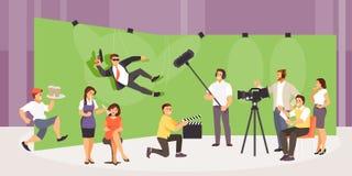 Film crew vector stock illustration
