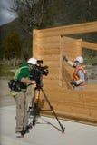 Film crew at work Stock Photo
