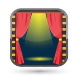 Film Curtain Spotlight Show Icon Vector Royalty Free Stock Image