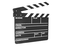 Film cut. 3d illustration of film clap over white background Stock Image